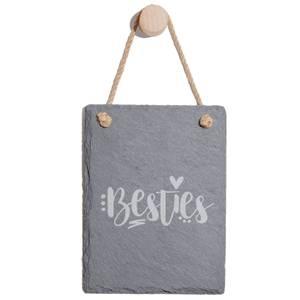 Besties Engraved Slate Memo Board - Portrait