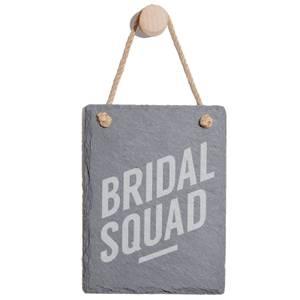 Bridal Squad Engraved Slate Memo Board - Portrait