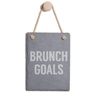 Brunch Goals Engraved Slate Memo Board - Portrait