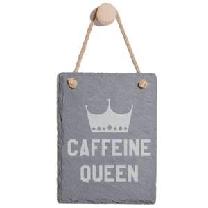 Caffeine Queen Engraved Slate Memo Board - Portrait