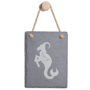 Capricorn Engraved Slate Memo Board - Portrait