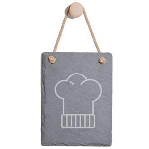 Chefs Hat Engraved Slate Memo Board - Portrait