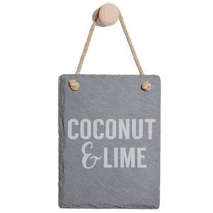 Coconut & Lime Engraved Slate Memo Board - Portrait