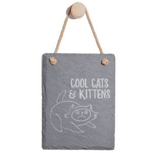 Cool Cats And Kittens Engraved Slate Memo Board - Portrait