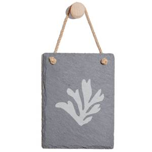 Coral Engraved Slate Memo Board - Portrait