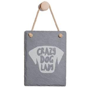 Crazy Dog Lady Engraved Slate Memo Board - Portrait