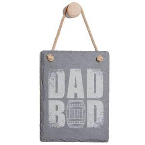 Dad Bod Engraved Slate Memo Board - Portrait
