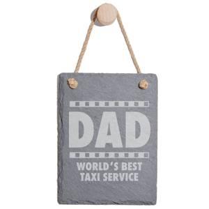 Dad World's Best Service Taxi Service Engraved Slate Memo Board - Portrait