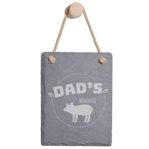 Dad's Bbq Engraved Slate Memo Board - Portrait