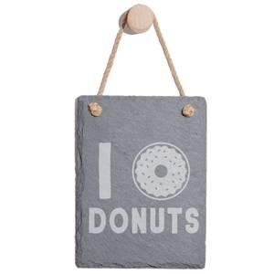 Donuts Engraved Slate Memo Board - Portrait