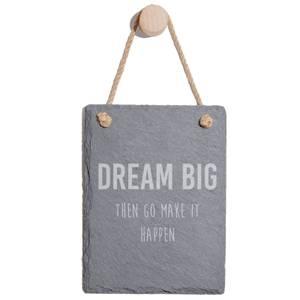 Dream Big Then Go Make It Happen Engraved Slate Memo Board - Portrait