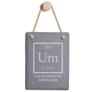 Element Of Confusion Engraved Slate Memo Board - Portrait