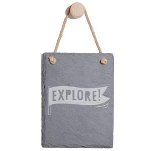 Explore Engraved Slate Memo Board - Portrait