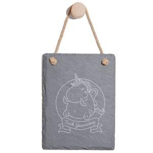 Fuck Younicorn Engraved Slate Memo Board - Portrait
