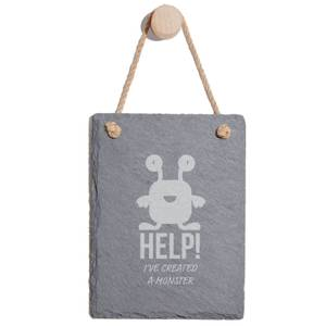 Help! I've Created A Monster Engraved Slate Memo Board - Portrait