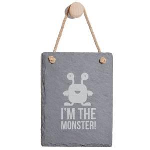 I'm The Monster Engraved Slate Memo Board - Portrait