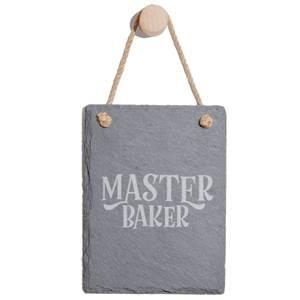 Master Baker Engraved Slate Memo Board - Portrait