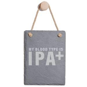 My Blood Type Is IPA+ Engraved Slate Memo Board - Portrait