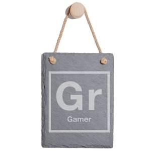 Periodic Gamer Engraved Slate Memo Board - Portrait