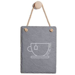 Spill The Tea Engraved Slate Memo Board - Portrait