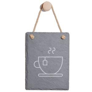 Tea Engraved Slate Memo Board - Portrait