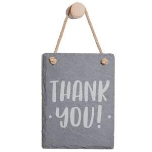 Thank You Engraved Slate Memo Board - Portrait