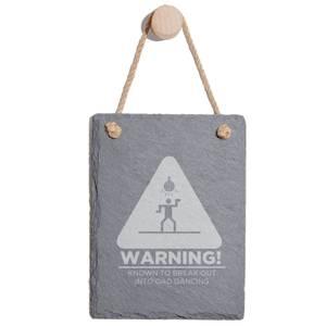 Warning Dad Dancing Engraved Slate Memo Board - Portrait