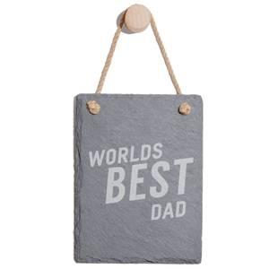 Worlds Best Dad Engraved Slate Memo Board - Portrait