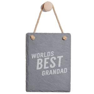 Worlds Best Grandad Engraved Slate Memo Board - Portrait
