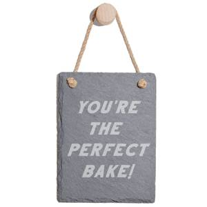 You're The Perfect Bake Engraved Slate Memo Board - Portrait