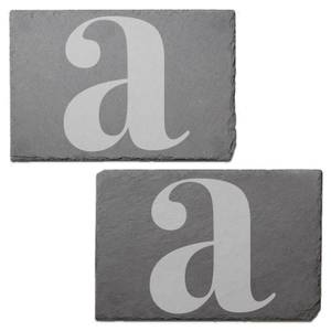 Lowercase Letter Engraved Slate Placemat - Set of 2