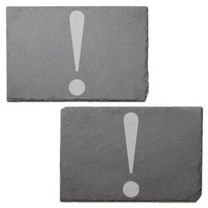 Diet Description Engraved Slate Placemat - Set of 2
