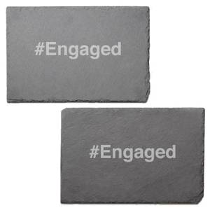 #Engaged Engraved Slate Placemat - Set of 2