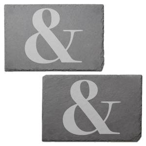 & Engraved Slate Placemat - Set of 2