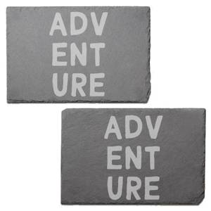 Adventure Engraved Slate Placemat - Set of 2