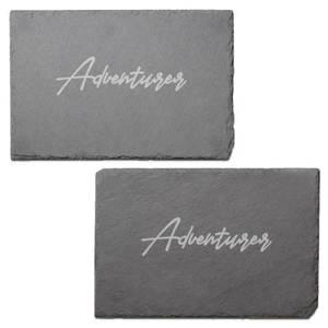 Adventurer Engraved Slate Placemat - Set of 2