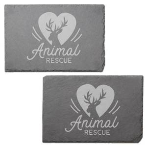 Animal Rescue Engraved Slate Placemat - Set of 2