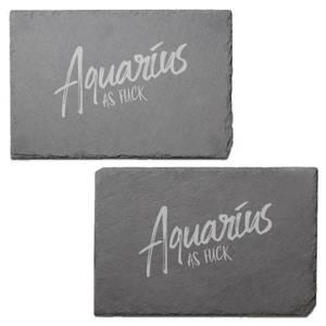 Aquarius As Fuck Engraved Slate Placemat - Set of 2