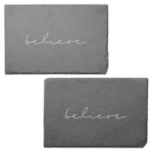 Believe Engraved Slate Placemat - Set of 2