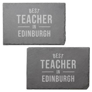 Best Teacher In Edinburgh Engraved Slate Placemat - Set of 2
