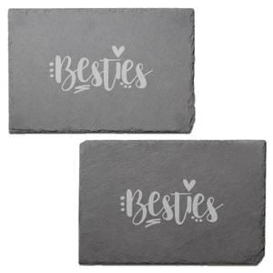 Besties Engraved Slate Placemat - Set of 2