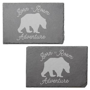 Born To Roam Adventure Engraved Slate Placemat - Set of 2