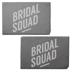Bridal Squad Engraved Slate Placemat - Set of 2