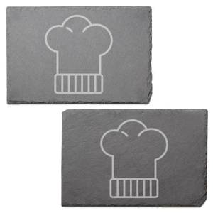 Chefs Hat Engraved Slate Placemat - Set of 2