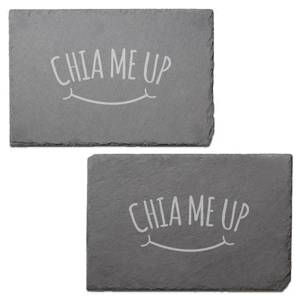 Chia Me Up Engraved Slate Placemat - Set of 2