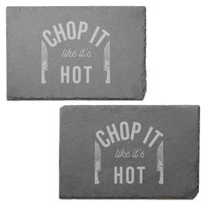 Chop It Like It's Hot Engraved Slate Placemat - Set of 2