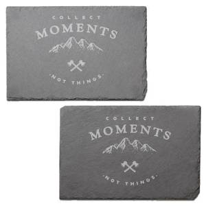 Collect Memories Not Things Engraved Slate Placemat - Set of 2