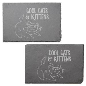 Cool Cats And Kittens Engraved Slate Placemat - Set of 2