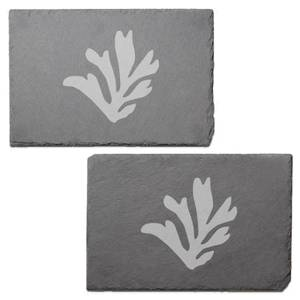 Coral Engraved Slate Placemat - Set of 2
