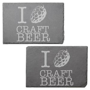 Craft Beer Engraved Slate Placemat - Set of 2